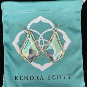 Kendra Scott Clear Iridescent Alexandra Earrings